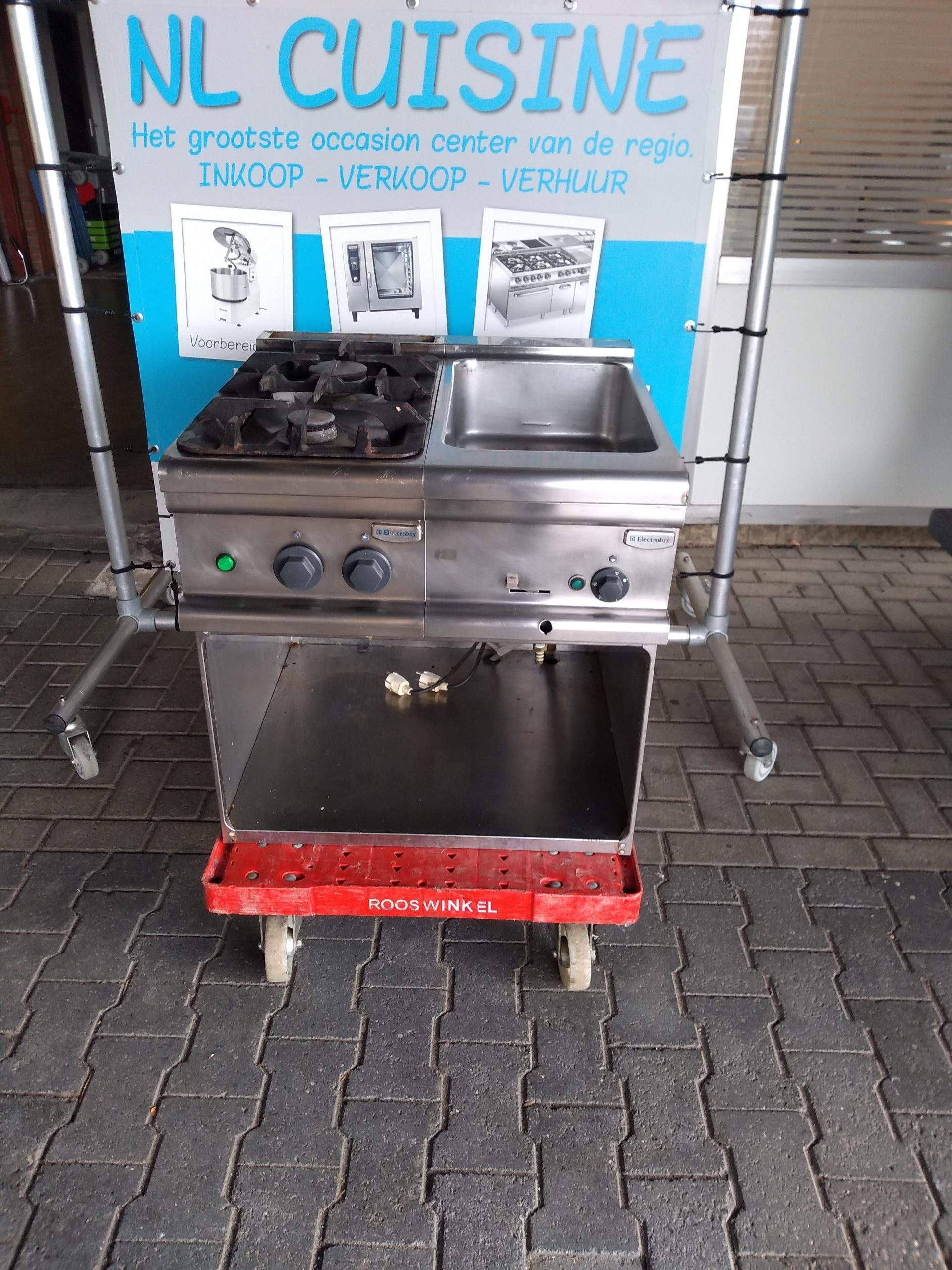 Electrolux 2 pits gasfornuis met bain marie Image